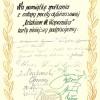 Pamiątkowa karta ze spotkania z załogą dyliżansu, podpisana w Wąbrzeźnie 21 maja 1973 roku.